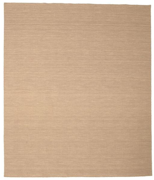 Kilim Loom - Bézs Szőnyeg 250X300 Modern Kézi Szövésű Világosbarna/Sötét Bézs Nagy (Gyapjú, India)