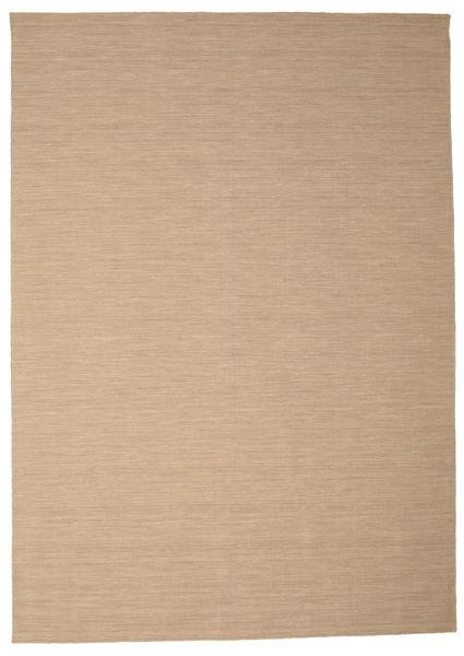 Kilim Loom - Beżowy Dywan 250X350 Nowoczesny Tkany Ręcznie Jasnobrązowy/Beżowy Duży (Wełna, Indie)