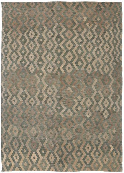 Kilim Modern Rug 191X285 Authentic  Modern Handwoven Light Brown/Dark Grey (Wool, Afghanistan)