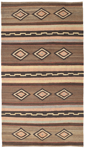 Κιλίμ Μοντέρνα Χαλι 173X313 Σύγχρονα Χειροποίητη Ύφανση Ανοιχτό Καφέ/Καφέ/Σκούρο Καφέ (Μαλλί, Αφγανικά)