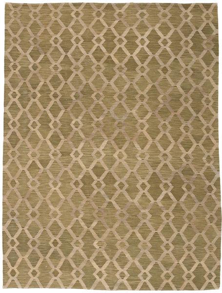 Kelim Moderne Tæppe 174X232 Ægte Moderne Håndvævet Lysebrun/Olivengrøn (Uld, Afghanistan)