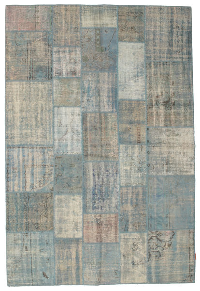 パッチワーク 絨毯 202X300 モダン 手織り 薄い灰色/深緑色の (ウール, トルコ)
