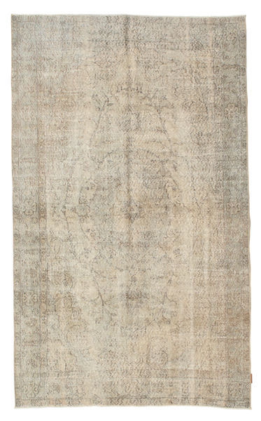 Colored Vintage Rug 160X270 Authentic  Modern Handknotted Light Grey/Dark Beige (Wool, Turkey)