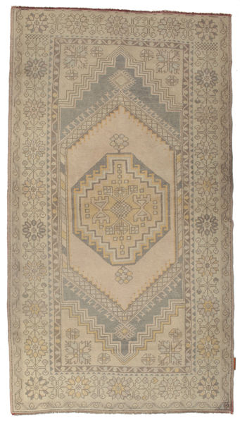 Colored Vintage Rug 103X266 Authentic  Modern Handknotted Hallway Runner  Light Brown (Wool, Turkey)