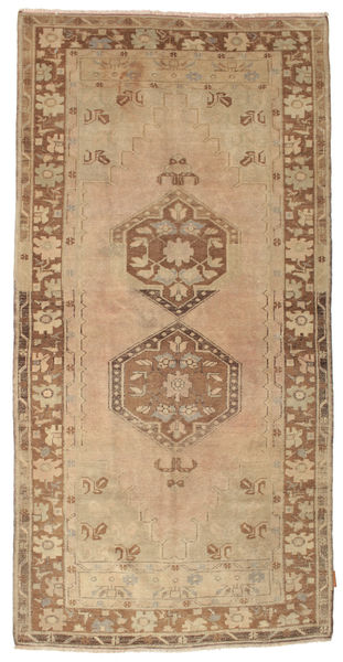 Colored Vintage Rug 120X242 Authentic  Modern Handknotted Light Brown/Brown (Wool, Turkey)