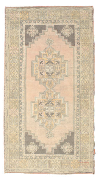 Colored Vintage Rug 112X207 Authentic  Modern Handknotted Light Brown/Beige (Wool, Turkey)