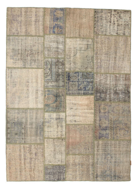 Patchwork Rug 175X243 Authentic  Modern Handknotted Light Brown/Olive Green (Wool, Turkey)