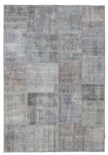 Patchwork Tapis 167X242 Moderne Fait Main Gris Foncé/Marron Foncé/Gris Clair (Laine, Turquie)
