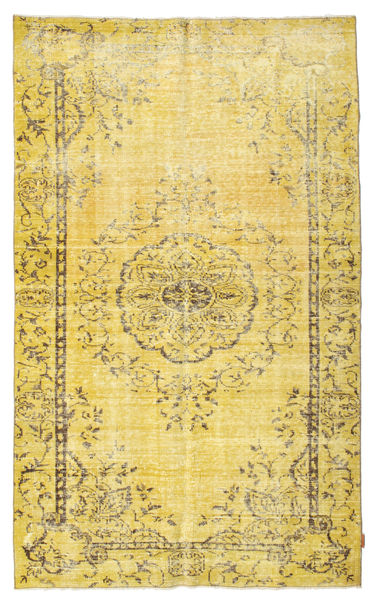 Colored Vintage Rug 166X273 Authentic  Modern Handknotted Yellow/Dark Beige (Wool, Turkey)