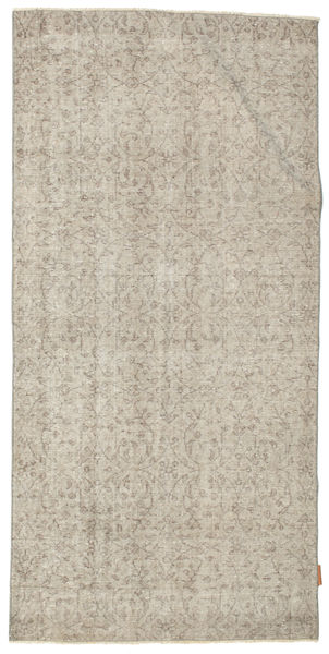 Colored Vintage Rug 96X194 Authentic  Modern Handknotted Light Brown/Light Grey (Wool, Turkey)