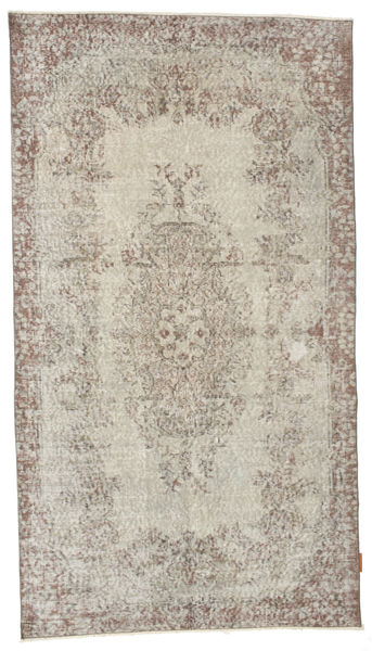 Colored Vintage Rug 115X206 Authentic  Modern Handknotted Light Brown/Light Grey (Wool, Turkey)