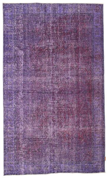 カラード ヴィンテージ 絨毯 160X271 モダン 手織り 紫/濃い紫/薄紫色 (ウール, トルコ)