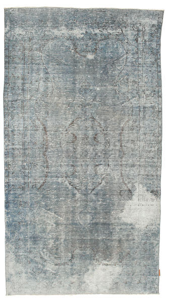 Colored Vintage Rug 158X287 Authentic  Modern Handknotted Light Grey/Light Blue (Wool, Turkey)