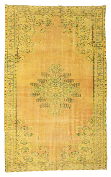 Colored Vintage Rug 181X296 Authentic  Modern Handknotted Yellow/Light Brown (Wool, Turkey)