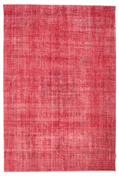 Colored Vintage Rug 207X310 Authentic  Modern Handknotted Pink/Rust Red/Crimson Red (Wool, Turkey)