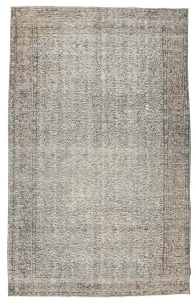 Colored Vintage Rug 166X270 Authentic  Modern Handknotted Light Grey/Light Brown (Wool, Turkey)
