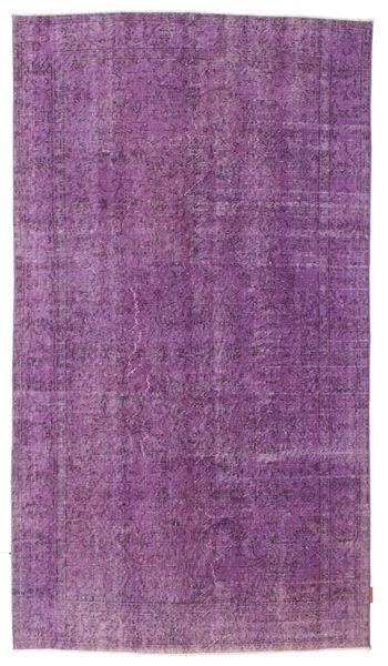 Colored Vintage Matto 146X260 Moderni Käsinsolmittu Pinkki/Violetti (Villa, Turkki)