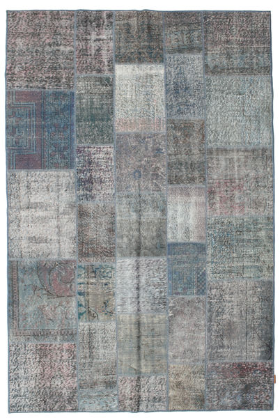 Patchwork Rug 198X300 Authentic  Modern Handknotted Light Grey/Blue (Wool, Turkey)