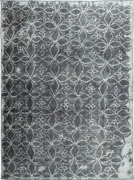 Colored Vintage Rug 290X390 Authentic  Modern Handknotted Dark Grey/Light Grey/Blue Large (Wool, Persia/Iran)