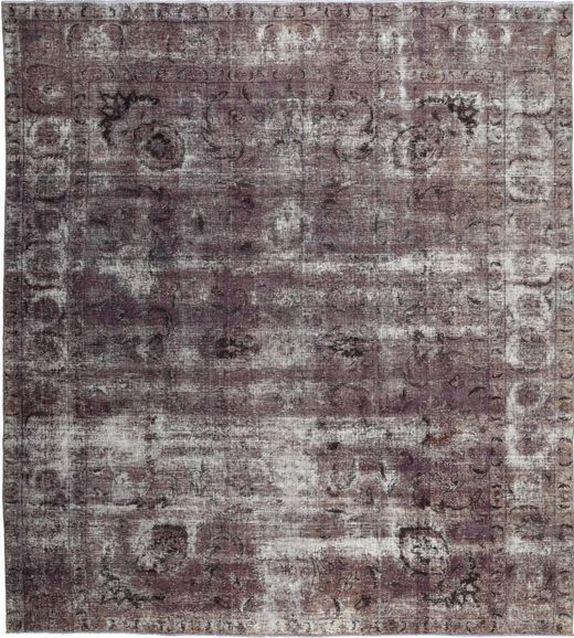 Colored Vintage Rug 290X325 Authentic  Modern Handknotted Dark Brown/Dark Grey Large (Wool, Persia/Iran)