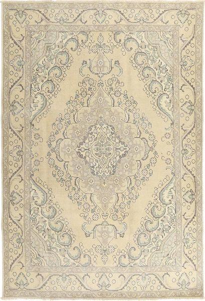 Colored Vintage Dywan 190X285 Nowoczesny Tkany Ręcznie Beżowy/Jasnoszary/Ciemnobeżowy (Wełna, Persja/Iran)