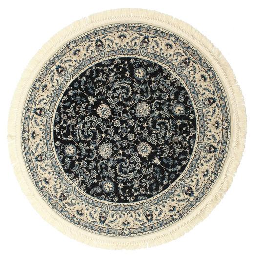 Nain Florentine - Dark Blue Rug Ø 150 Oriental Round Beige/Dark Grey ( Turkey)