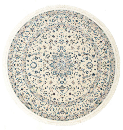 Nain Emilia - Cream/Light Blue Rug Ø 150 Oriental Round Beige/Light Grey ( Turkey)