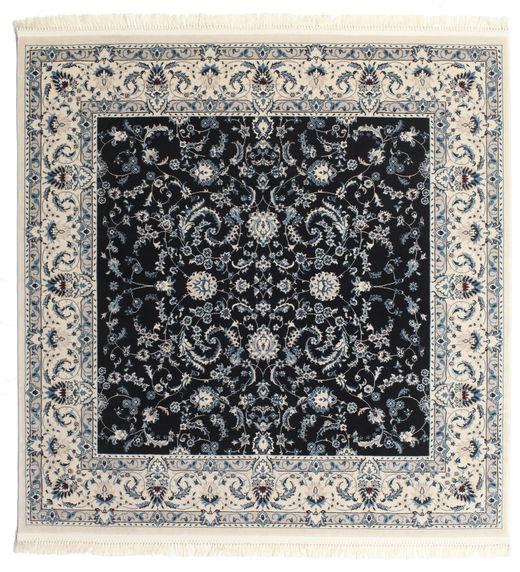 Nain Florentine - Ciemnoniebieski Dywan 150X150 Orientalny Kwadratowy Jasnoszary/Czarny ( Turcja)