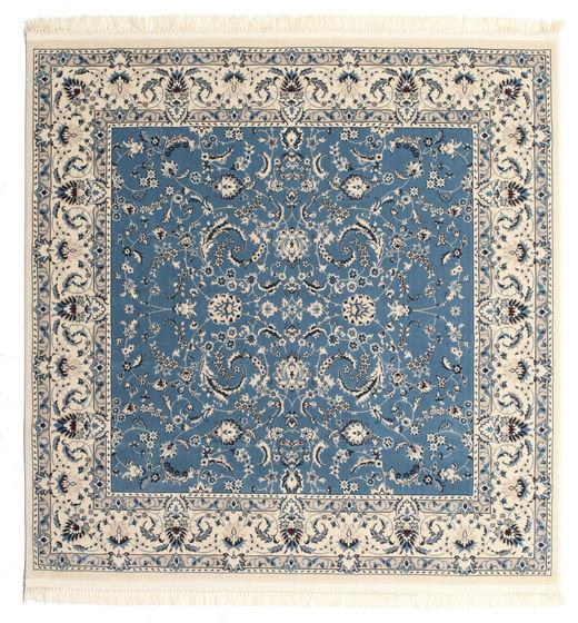 Nain Florentine - Ljusblå Matta 200X200 Orientalisk Kvadratisk Ljusgrå/Beige/Blå ( Turkiet)