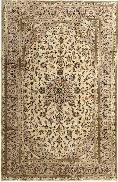 Keshan Rug 192X295 Authentic  Oriental Handknotted Light Brown/Brown (Wool, Persia/Iran)