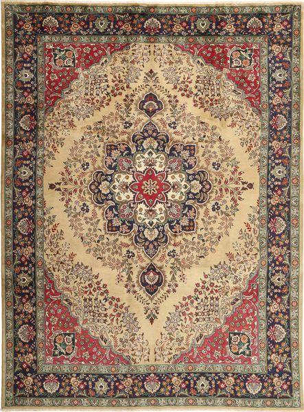 Tabriz Matto 255X340 Itämainen Käsinsolmittu Ruskea/Vaaleanruskea Isot (Villa, Persia/Iran)