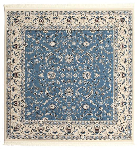 Naïn Florentine - Bleu Clair Tapis 250X250 D'orient Carré Beige/Bleu Grand ( Turquie)