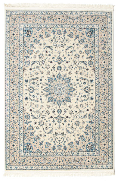 Nain Emilia - Beige/Light Blue Rug 140X200 Oriental Light Grey/Beige ( Turkey)