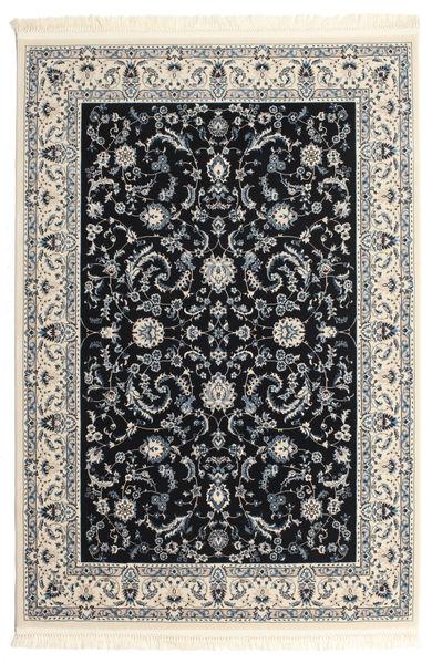 Naïn Florentine - Bleu Foncé Tapis 140X200 D'orient Gris Clair/Noir ( Turquie)
