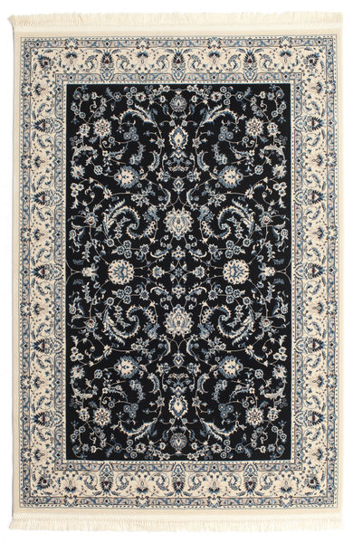 Nain Florentine - Mörkblå Matta 120X180 Orientalisk Svart/Ljusgrå/Mörkgrå ( Turkiet)