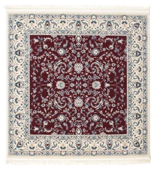 Nain Florentine - Mørk Rød Teppe 150X150 Orientalsk Kvadratisk Beige/Mørk Rød ( Tyrkia)