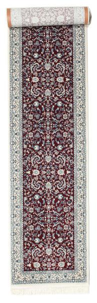 Nain Florentine - Dark Red Rug 80X400 Oriental Hallway Runner  Dark Brown/Light Grey ( Turkey)