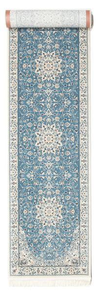 Nain Emilia - Hellblau Teppich  80X400 Orientalischer Läufer Hellgrau/Beige ( Türkei)