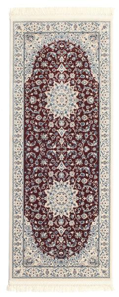 Nain Emilia - Mörkröd Matta 80X300 Orientalisk Hallmatta Beige/Mörkbrun/Ljusgrå ( Turkiet)