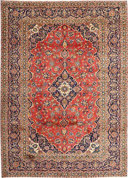 Keshan Teppe 270X375 Ekte Orientalsk Håndknyttet Lysbrun/Brun Stort (Ull, Persia/Iran)