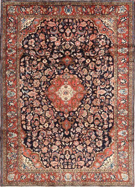 Hamadan Shahrbaf Dywan 215X305 Orientalny Tkany Ręcznie Czarny/Jasnobrązowy (Wełna, Persja/Iran)