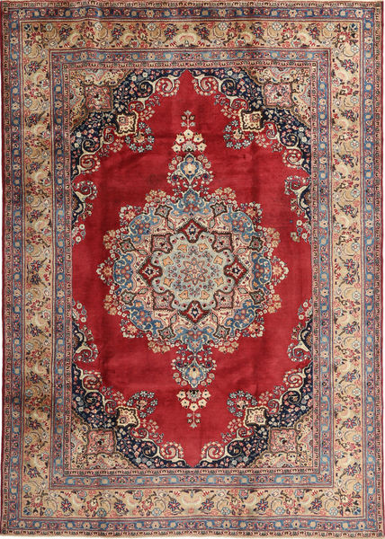 Mashad Rug 203X285 Authentic  Oriental Handknotted Light Brown/Dark Red (Wool, Persia/Iran)