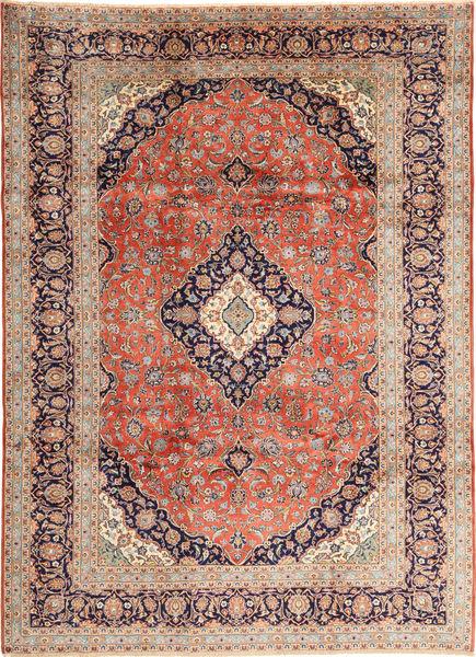 Keshan Vloerkleed 250X345 Echt Oosters Handgeknoopt Lichtbruin/Bruin Groot (Wol, Perzië/Iran)