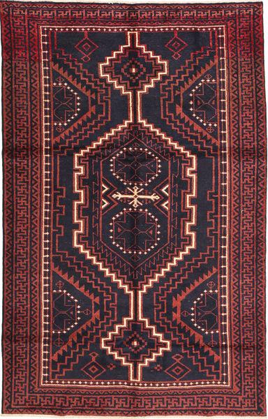 Lori Tapis 160X255 D'orient Fait Main Noir/Rouge Foncé (Laine, Perse/Iran)