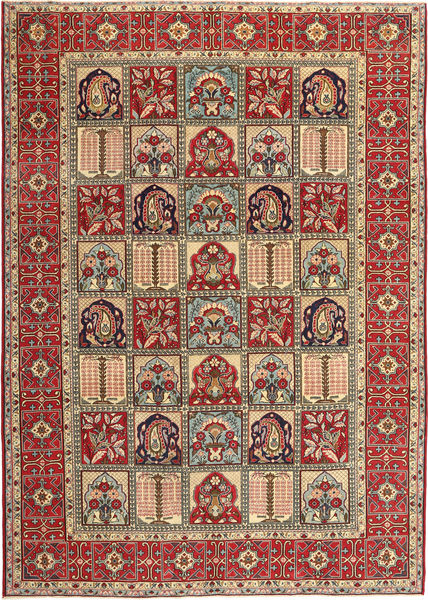Najafabad Patina Rug 255X360 Authentic  Oriental Handknotted Dark Red/Dark Brown Large (Wool, Persia/Iran)