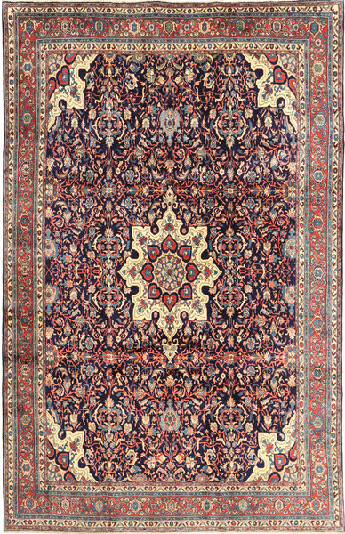 Bidjar Rug 210X325 Authentic  Oriental Handknotted Dark Purple/Purple (Wool, Persia/Iran)