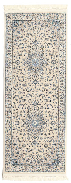 Nain Emilia - Cream/Light Blue Rug 80X200 Oriental Hallway Runner  Beige/Dark Grey ( Turkey)