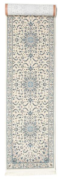 Nain Emilia - Cream/Light Blue Rug 80X500 Oriental Hallway Runner  Beige/Light Grey ( Turkey)