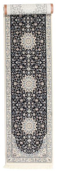 Nain Emilia - Ciemnoniebieski Dywan 80X400 Orientalny Chodnik Jasnoszary/Ciemnofioletowy ( Turcja)