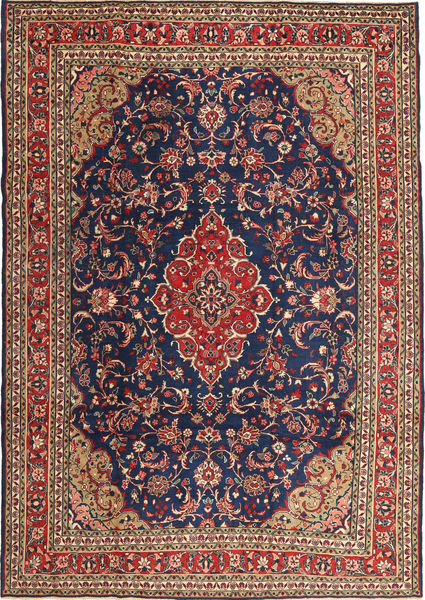 Hamadan Patina Rug 212X302 Authentic  Oriental Handknotted Dark Red/Dark Grey (Wool, Persia/Iran)